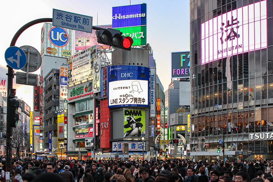 Shibuya crossing should definitely be a stop during your two weeks in Japan