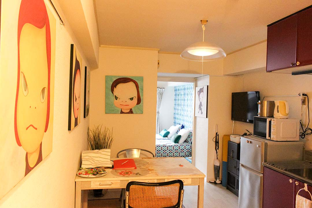 Artistic Airbnb apartment in Japan